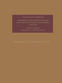Bausteine des Tierkörpers II von Bayer,  Ernst