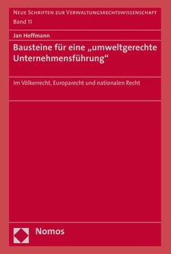 """Bausteine für eine """"umweltgerechte Unternehmensführung"""" von Hoffmann,  Jan"""
