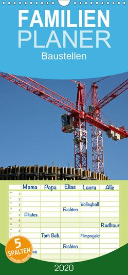 Baustellen – Familienplaner hoch (Wandkalender 2020 , 21 cm x 45 cm, hoch) von Berg,  Martina