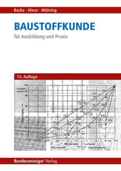 Baustoffkunde von Backe,  Hans, Hiese,  Wolfram, Möhring,  Rolf