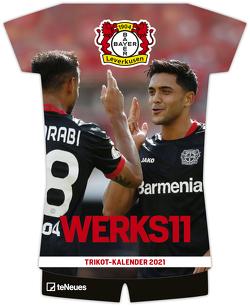 Bayer 04 Leverkusen 2021 Trikotkalender – Fußballkalender – Wandkalender – Fankalender – 34×42