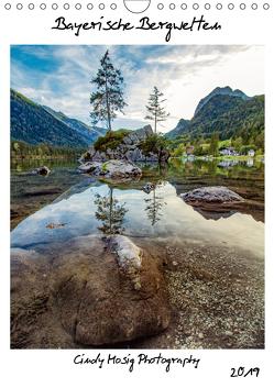 Bayerische Bergwelten (Wandkalender 2019 DIN A4 hoch) von Mosig,  Cindy