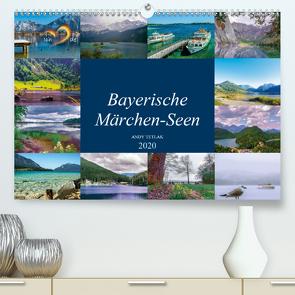 Bayerische Märchen-Seen (Premium, hochwertiger DIN A2 Wandkalender 2020, Kunstdruck in Hochglanz) von Tetlak,  Andy