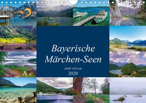 Bayerische Märchen-Seen (Wandkalender 2020 DIN A4 quer) von Tetlak,  Andy