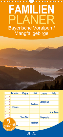Bayerische Voralpen / Mangfallgebirge – Familienplaner hoch (Wandkalender 2020 , 21 cm x 45 cm, hoch) von Wenk,  Marcel