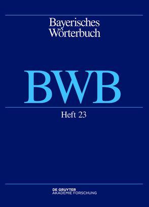 Bayerisches Wörterbuch (BWB) / Dacher – tamig von Bayerische Akademie der Wissenschaften, Denz,  Josef, Funk,  Edith, Rowley,  Anthony, Schamberger-Hirt,  Andrea, Schnabel,  Michael