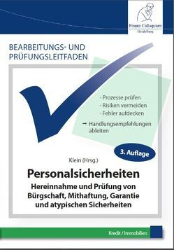 Bearbeitungs- und Prüfungsleitfaden: Personalsicherheiten von Klein,  Dr. Jochen, Müller,  Michaela