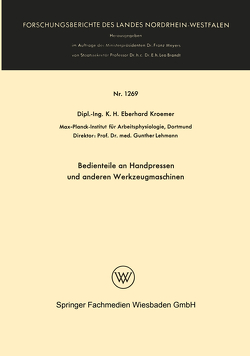 Bedienteile an Handpressen und anderen Werkzeugmaschinen von Wode,  Henning