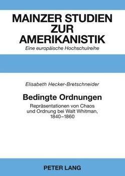 Bedingte Ordnungen von Hecker-Bretschneider,  Elisabeth