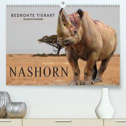 Bedrohte Tierart – Nashorn(Premium, hochwertiger DIN A2 Wandkalender 2020, Kunstdruck in Hochglanz) von Roder,  Peter