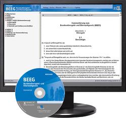 BEEG Bundeselterngeld- und Elternzeitgesetz – bei Kombibezug Print und CD-ROM von Jung,  Eberhard, Wiegand,  Bernd
