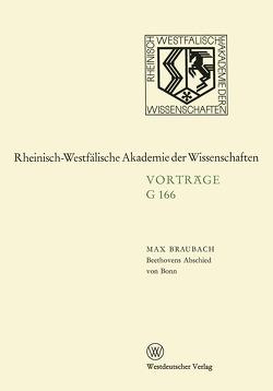 Beethovens Abschied von Bonn von Braubach,  Max