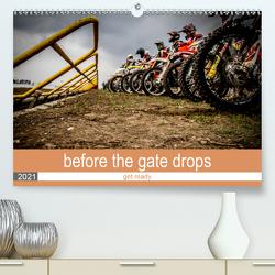 before the gate drops (Premium, hochwertiger DIN A2 Wandkalender 2021, Kunstdruck in Hochglanz) von Fitkau Fotografie & Design,  Arne