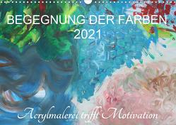 BEGEGNUNG DER FARBEN (Wandkalender 2021 DIN A3 quer) von Hampe-Neves,  Sabine