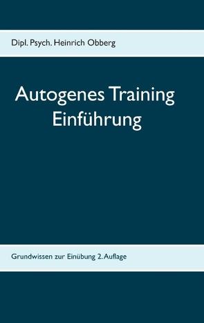 Begleitheft Autogenes Training von Obberg,  Heinrich