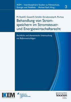 Behandlung von Stromspeichern im Stromsteuer- und Energiewirtschaftsrecht von Gawel,  Erik, Purkus,  Alexandra, Rodi,  Michael, Schäfer-Stradowsky,  Simon