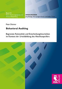 Behavioral Auditing von Dittmar,  Peter