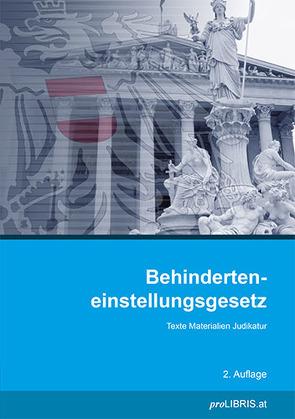 Behinderteneinstellungsgesetz von proLIBRIS VerlagsgesmbH