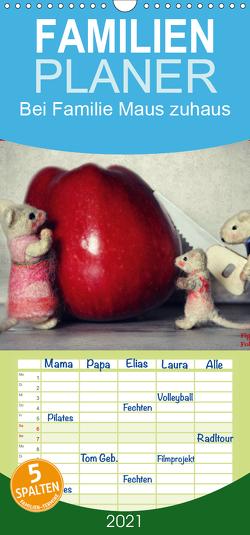 Bei Familie Maus zuhaus – Familienplaner hoch (Wandkalender 2021 , 21 cm x 45 cm, hoch) von Hain,  Sarah, Hultsch,  Heike