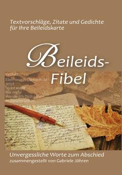 Beileidsfibel von Jöhren,  Gabriele