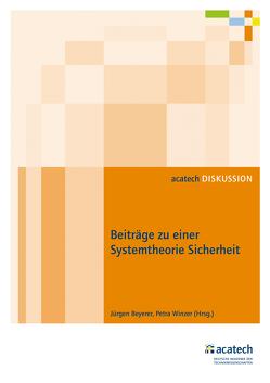 Beiträge zu einer Systemtheorie Sicherheit von Beyerer,  Jürgen, Winzer,  Petra