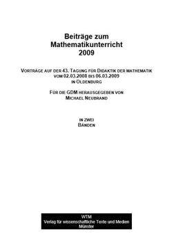 Beiträge zum Mathematikunterricht 2009 von Neubrand,  Michael