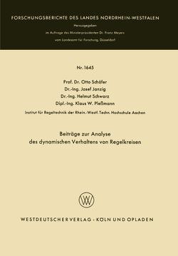 Beiträge zur Analyse des dynamischen Verhaltens von Regelkreisen von Janzig,  Josef, Pleßmann,  Klaus W., Schäfer,  Otto, Schwarz,  Helmut