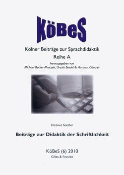Beiträge zur Didaktik der Schriftlichkeit von Günther,  Hartmut