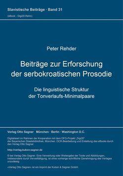 Beiträge zur Erforschung der serbokroatischen Prosodie von Rehder,  Peter