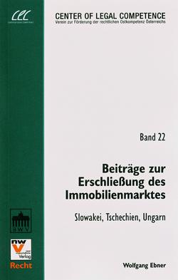 Beiträge zur Erschließung des Immobilienmarktes von Ebner,  Wolfgang