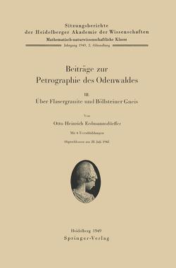 Beiträge zur Petrographie des Odenwaldes III von Erdmannsdörffer,  O. H.