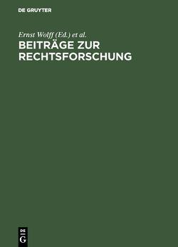 Beiträge zur Rechtsforschung von Internationaler Kongreß für Rechtsvergleichung 3,  1950,  London, Wolff,  Ernst