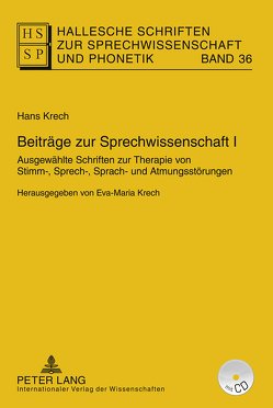 Beiträge zur Sprechwissenschaft I von Krech,  Eva-Maria