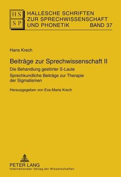 Beiträge zur Sprechwissenschaft II von Krech,  Eva-Maria