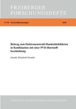 Beitrag zum Elektronenstrahl-Randschichthärten in Kombination mit einer PVD-Hartstoffbeschichtung von Grumbt,  Gundis Elisabeth