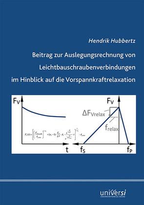 Beitrag zur Auslegungsrechnung von Leichtbauschraubenverbindungen im Hinblick auf die Vorspannkraftrelaxation von Hubbertz,  Hendrik