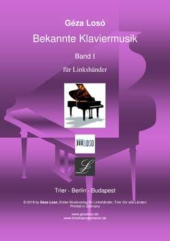 Bekannte Klaviermusik Band I für Linkshänder