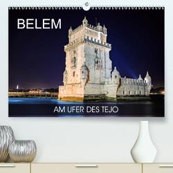 Belem – am Ufer des Tejo (Premium, hochwertiger DIN A2 Wandkalender 2020, Kunstdruck in Hochglanz) von Thoermer,  Val