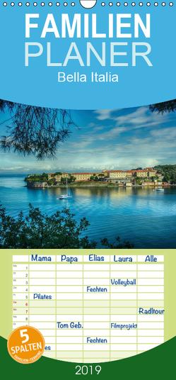 Bella Italia – Impressionen aus der Toskana und Ligurien – Familienplaner hoch (Wandkalender 2019 , 21 cm x 45 cm, hoch) von Wenske,  Steffen
