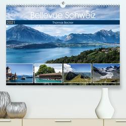 Bellevue Schweiz (Premium, hochwertiger DIN A2 Wandkalender 2021, Kunstdruck in Hochglanz) von Becker,  Thomas