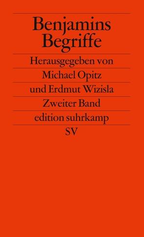 Benjamins Begriffe von Opitz,  Michael, Wizisla,  Erdmut