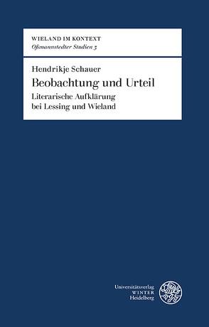 Beobachtung und Urteil von Schauer,  Hendrikje
