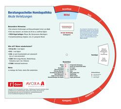 Beratungsscheibe Homöopathika: Verletzungen von Lamping,  Almut, Schlenk,  Margit
