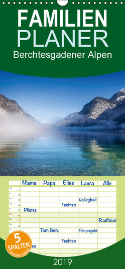 Berchtesgadener Alpen – Land von Watzmann und Königssee – Familienplaner hoch (Wandkalender 2019 , 21 cm x 45 cm, hoch) von Mueringer,  Christian