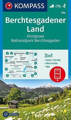 Berchtesgadener Land, Königssee, Nationalpark Berchtesgaden von KOMPASS-Karten GmbH