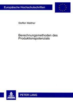 Berechnungsmethoden des Produktionspotenzials von Walther,  Steffen