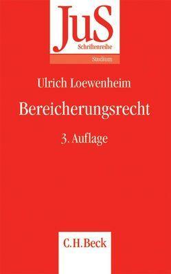 Bereicherungsrecht von Loewenheim,  Ulrich