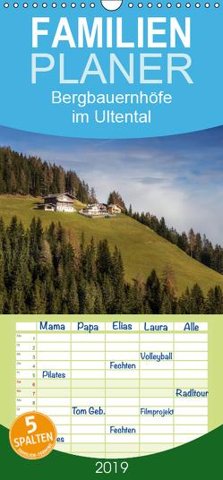 Bergbauernhöfe im Ultental – Familienplaner hoch (Wandkalender 2019 , 21 cm x 45 cm, hoch) von Pöder,  Gert