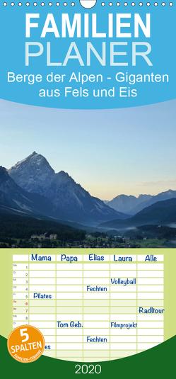 Berge der Alpen – Giganten aus Fels und Eis – Familienplaner hoch (Wandkalender 2020 , 21 cm x 45 cm, hoch) von Peceny,  Markus
