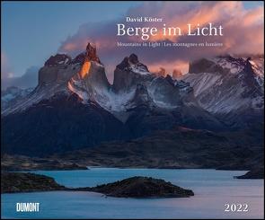 Berge im Licht 2022 – Wandkalender 58,4 x 48,5 cm – Spiralbindung von Köster,  David